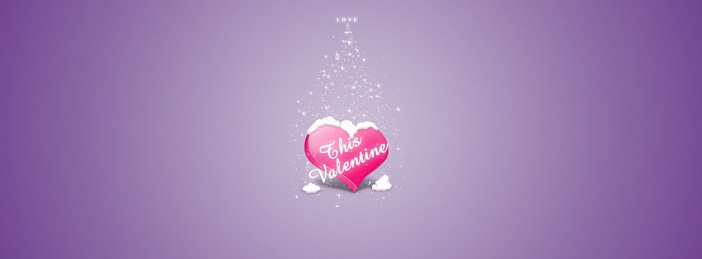 Love purple Valentine